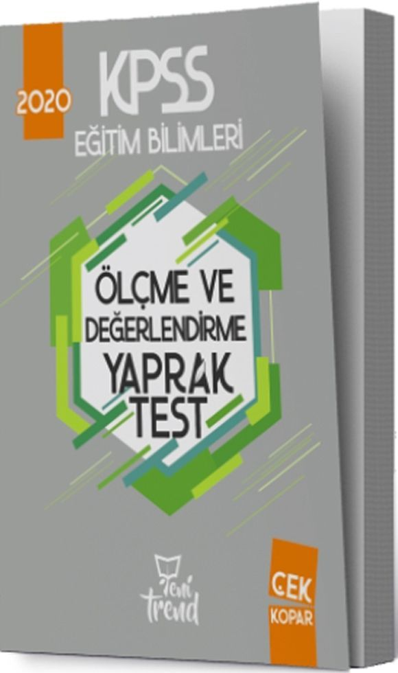 Yeni Trend Yayınları 2020 KPSS Eğitim Bilimleri Ölçme ve Değerlendirme Yaprak Test