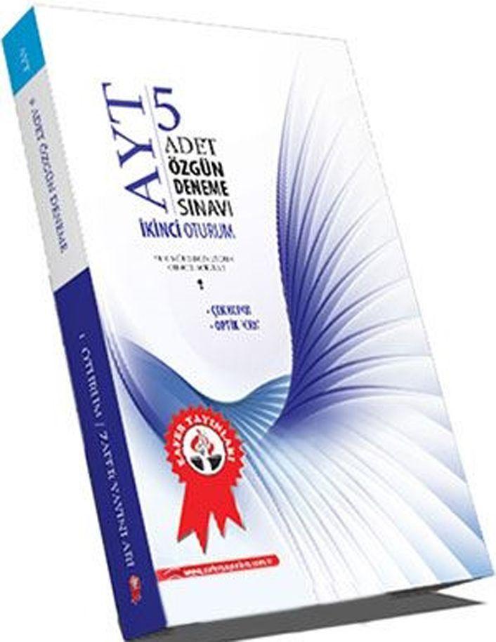 Zafer Yayınları AYT 5 Adet Özgün Deneme Sınavı