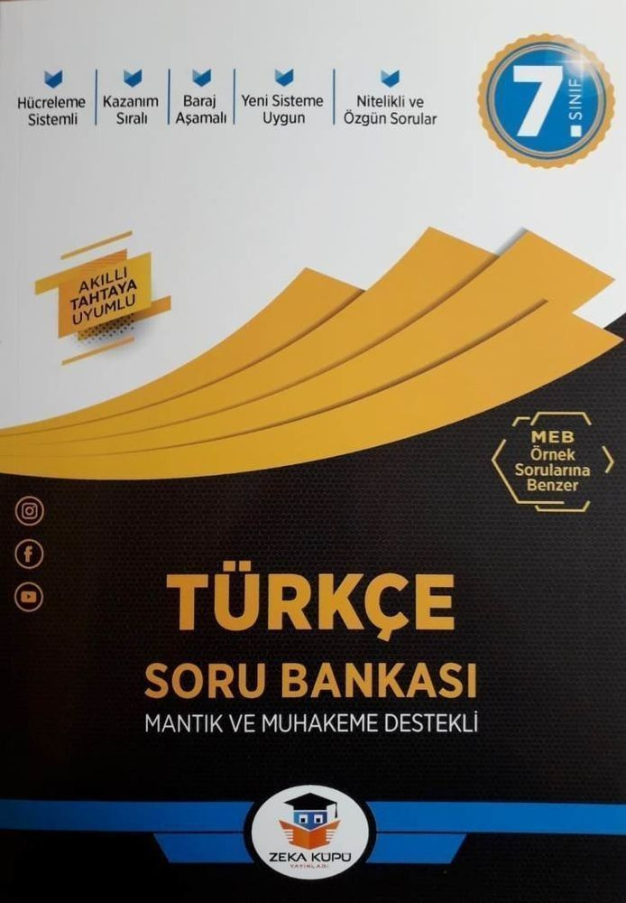 Zeka Küpü Yayınları 7. Sınıf Türkçe Soru Bankası