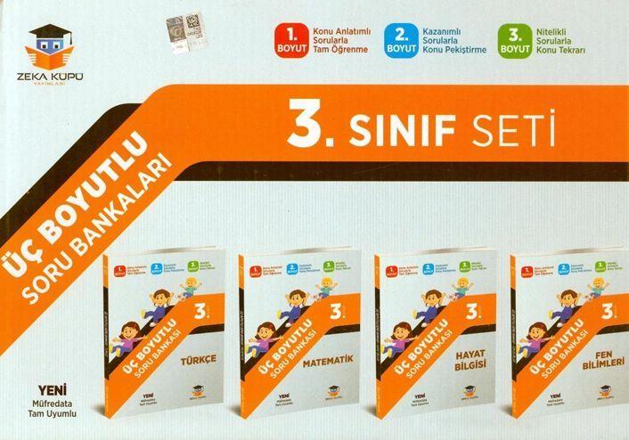 Zeka Küpü Yayınları 3. Sınıf Tüm Dersler Üç Boyutlu Soru Bankası Seti