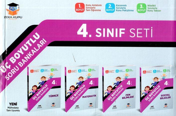 Zeka Küpü Yayınları 4. Sınıf Tüm Dersler Üç Boyutlu Soru Bankası Seti