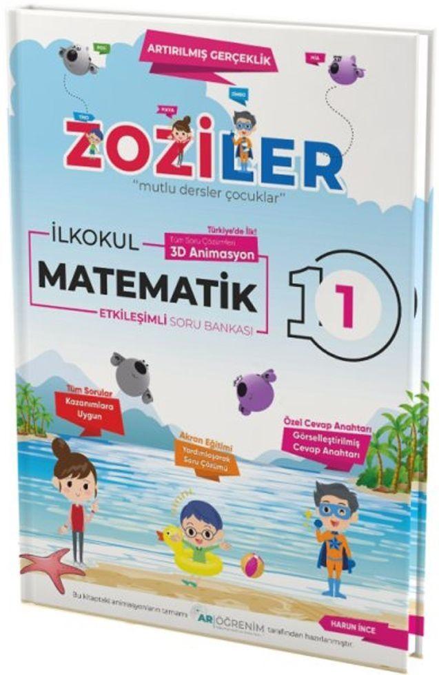 Zoziler 1. Sınıf Matematik Artırılmış Gerçeklik Etkileşimli Canlanan Soru Bankası