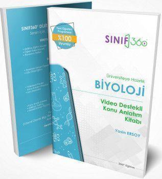 360 Eğitim Yayınları Üniversiteye Hazırlık Biyoloji Video Destekli Konu Anlatım Kitabı