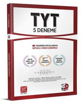 3D Yayınları 2021 TYT 5 Deneme Tamamı Video Çözümlü