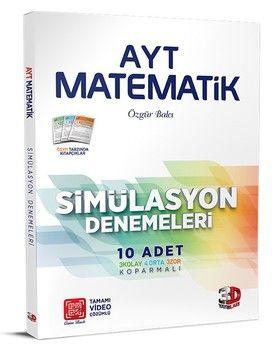 3D Yayınları AYT Matematik Simülasyon 10 lu Denemeleri
