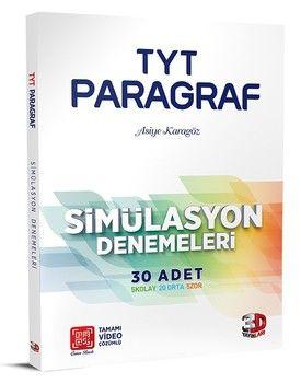 3D Yayınları TYT Paragraf Simülasyon 30 lu Denemeleri