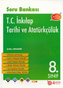 4 Adım Yayıncılık 8. Sınıf T. C. İnkılap Tarihi ve Atatürkçülük Soru Bankası
