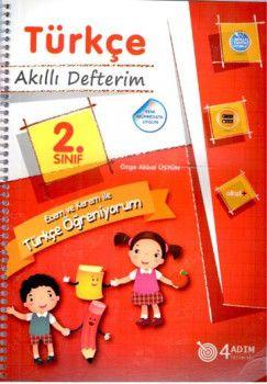 4 Adım Yayıncılık 2. Sınıf Türkçe Akıllı Defterim