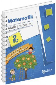 4 Adım Yayıncılık 2. Sınıf Matematik Akıllı Defterim