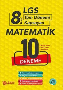 4 Adım Yayıncılık 8. Sınıf LGS Matematik 10 Deneme