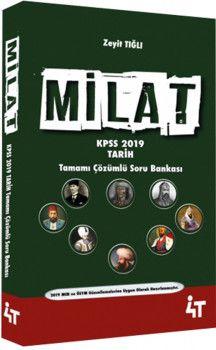 4T Yayınları 2019 KPSS Milat Tarih Tamamı Çözümlü Soru Bankası