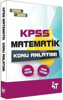 4T Yayınları 2020 KPSS Matematik Konu Anlatımı