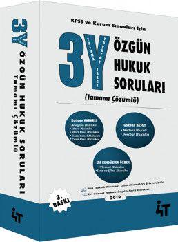 4T Yayınları 3Y Özgün Hukuk Soruları 3. Baskı