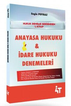 4T Yayınları Hukuk Deneme Serisi 1. Kitap Anayasa Hukuku İdare Hukuku Denemeleri
