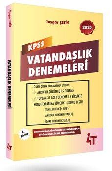 4T Yayınları KPSS Vatandaşlık Denemeleri