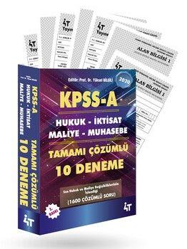 4T Yayınları KPSS A Grubu Tamamı Çözümlü 10 Deneme 3. Baskı