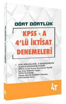 4T Yayınları KPSS A Dört Dörtlük 4lü İktisat Denemeleri