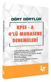 4T Yayınları KPSS A Dört Dörtlük 4lü Muhasebe Denemeleri
