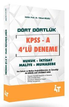 4T Yayınları KPSS A Dört Dörtlük Denemeleri