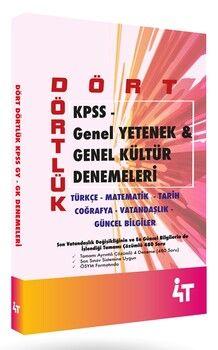 4T Yayınları KPSS B Dört Dörtlük Denemeleri