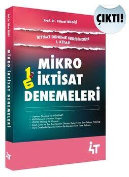 4T Yayınları Mikro İktisat Denemeleri 1