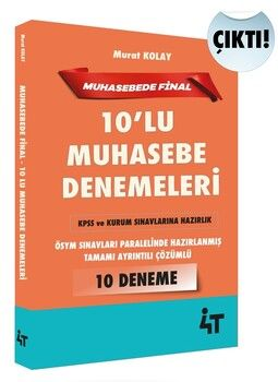 4T Yayınları Muhasebede Final 10 lu Muhasebe Denemeleri