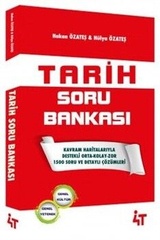 4T Yayınları Tarih Soru Bankası Hakan Özateş