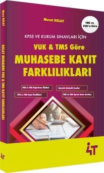 4T Yayınları VUK ve TMS Göre Muhasebe Kayıt Farklılıkları