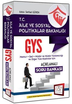 657 Yayınları 2016 GYS Aile ve Sosyal Politikalar Bakanlığı Açıklamalı Soru Bankası