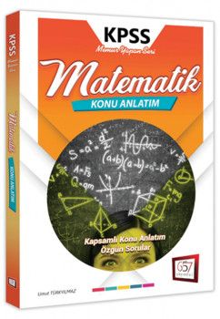 657 Yayınları 2019 KPSS Matematik Memur Yapan Seri Konu Anlatım