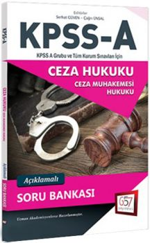 657 Yayınları KPSS A Grubu Ceza Hukuku Açıklamalı Soru Bankası
