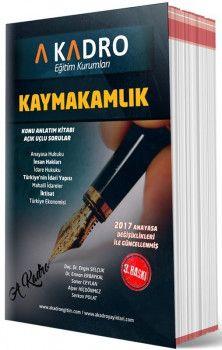 A Kadro Yayınları Kaymakamlık Konu Anlatım Kitabı