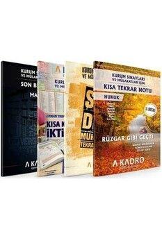 A Kadro Yayınları 2020 KPSS A Grubu ve Kurum Sınavları İçin Son Tekrar Notları 4 Kitap