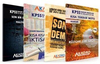 A Kadro Yayınları KPSS Kurum Sınavları ve Mülakatlar İçin Son Tekrar Notları4 lü Set