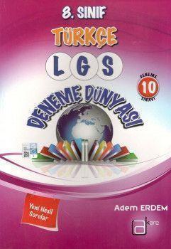 A Kare Yayınları 8. Sınıf LGS Türkçe Deneme Dünyası 10 Deneme