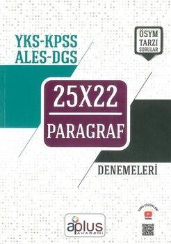 A Plus Akademi Yayınları YKS KPSS ALES DGS Paragraf 25x22 Denemeleri