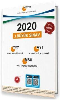 A Yayınları 2020 YKS TYT AYT MSÜ 3 Büyük Sınav Seti