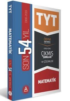 A Yayınları TYT Matematik Son 54 Yıl Tamamı Çözümlü Çıkmış Sorular