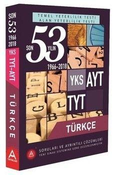 A Yayınları TYT Türkçe Son 53 Yılın Çıkmış Soruları ve Ayrıntılı Çözümleri