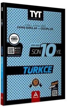 A Yayınları TYT Türkçe Son 10 Yıl Çıkmış Soru Ve Çözümleri (2012-2021)