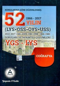 A Yayınları YGS LYS Coğrafya 52 Yılın Soruları ve Ayrıntılı Çözümleri