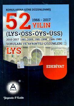 A Yayınları YGS LYS Edebiyat 52 Yılın Soruları ve Ayrıntılı Çözümleri