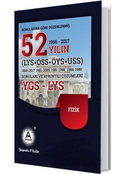 A Yayınları YGS LYS Fizik 52 Yılın Çıkmış Soruları ve Ayrıntılı Çözümleri