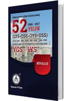 A Yayınları YGS LYS Biyoloji 52 Yılın Çıkmış Soruları ve Ayrıntılı Çözümleri