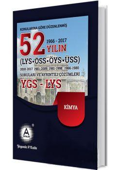 A Yayınları YGS LYS Kimya 52 Yılın Çıkmış Soruları ve Ayrıntılı Çözümleri