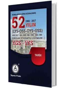 A Yayınları YGS LYS Tarih 52 Yılın Çıkmış Soruları ve Ayrıntılı Çözümleri
