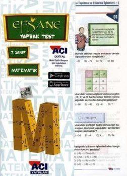 Açı Yayınları 7. Sınıf Matematik Çek Kopart Yaprak Test