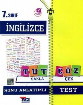 Açı Yayınları 7. Sınıf İngilizce Tut Sakla Konu Anlatımı Çek Çöz Test