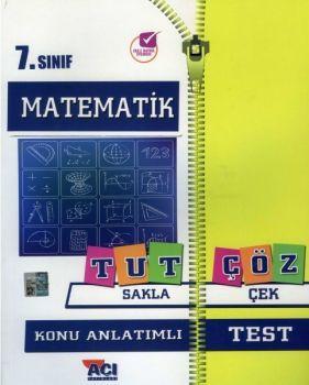 Açı Yayınları 7. Sınıf Matematik Tut Sakla Konu Anlatımı Çek Çöz Test