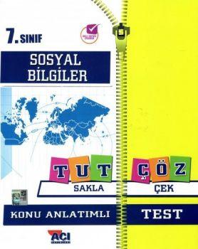 Açı Yayınları 7. Sınıf Sosyal Bilgiler Tut Sakla Konu Anlatımı Çek Çöz Test
